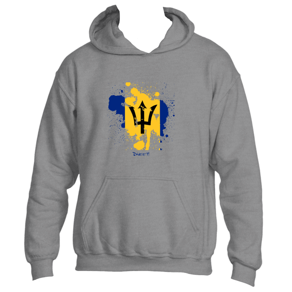 Barbados Rep your Island Slash Hoodie