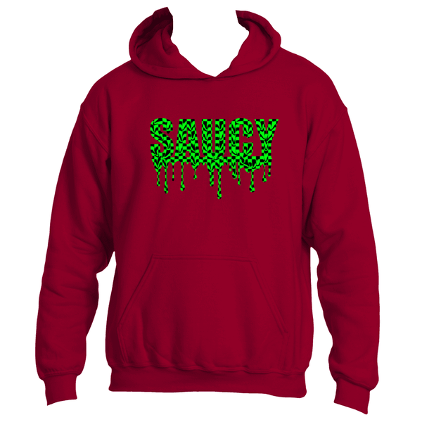 Green and Black Checker Saucy Hoodie