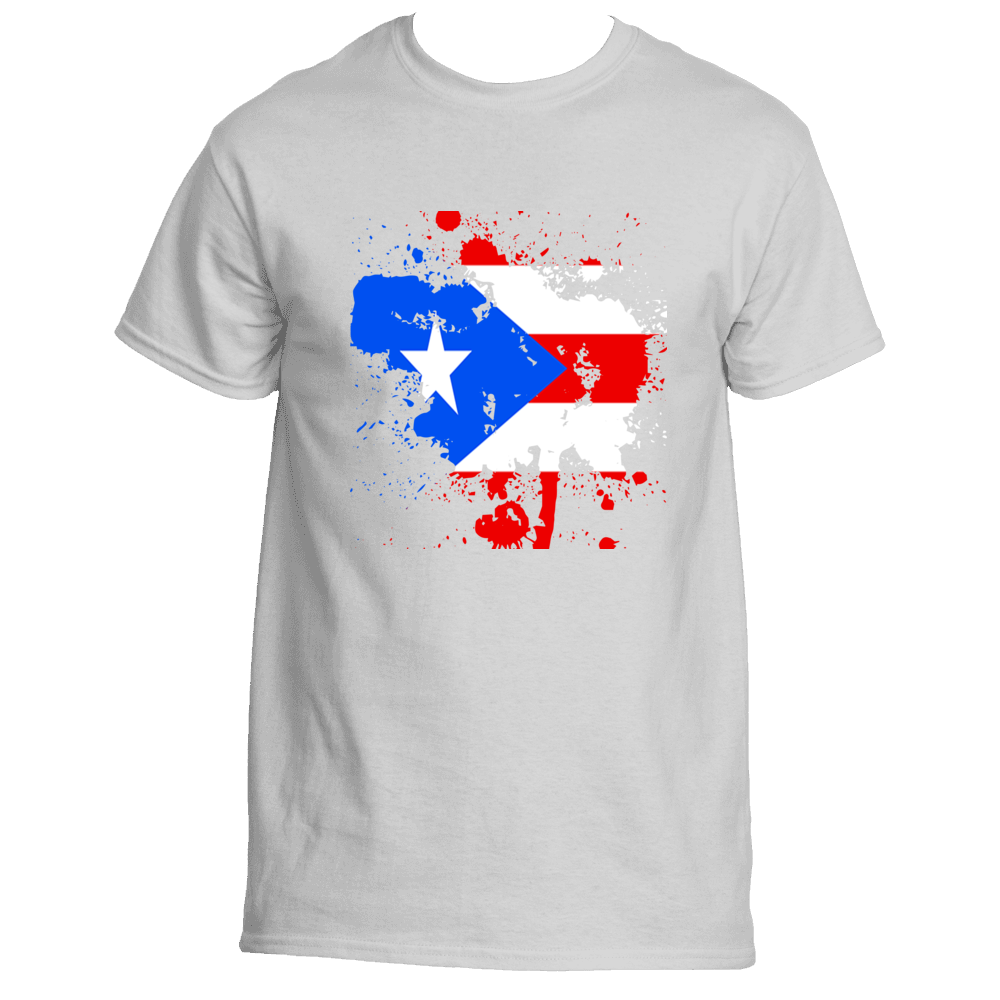 Puerto Rican Rep your Island Splash T-Shirt