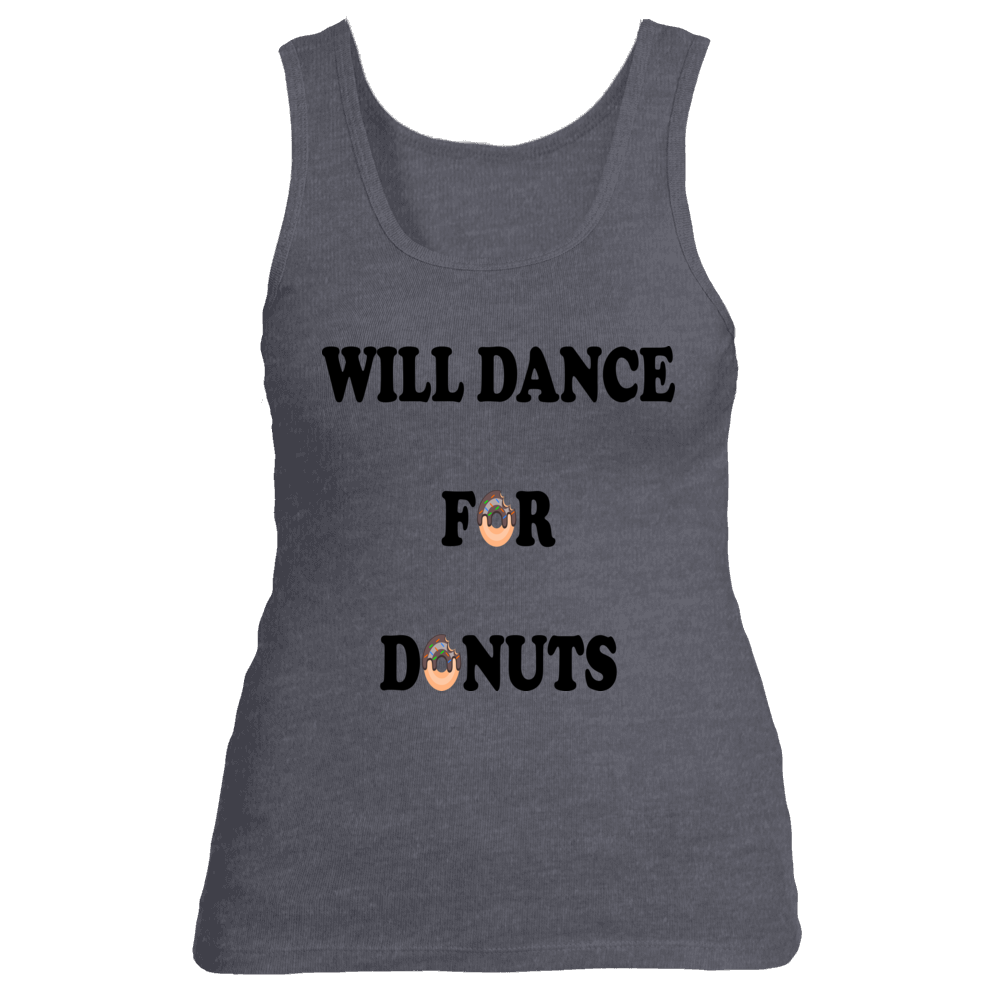 Will Dance For Donuts Funny Zumba Tank Top