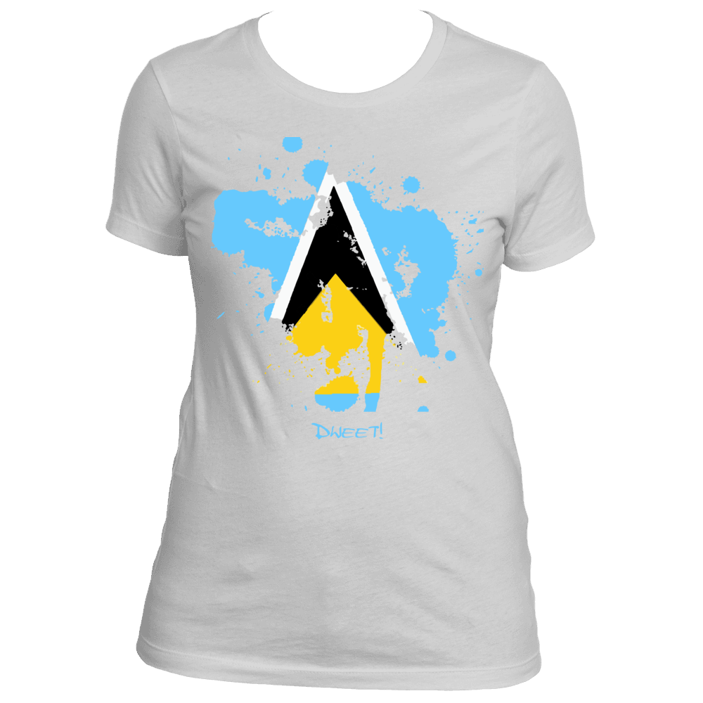 Ladies St.Lucian Rep Your Island Tee
