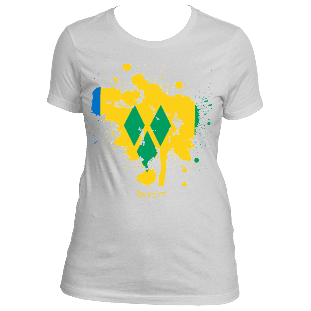 Ladies St.Vincent and The Grenadines Rep Your Island Tee