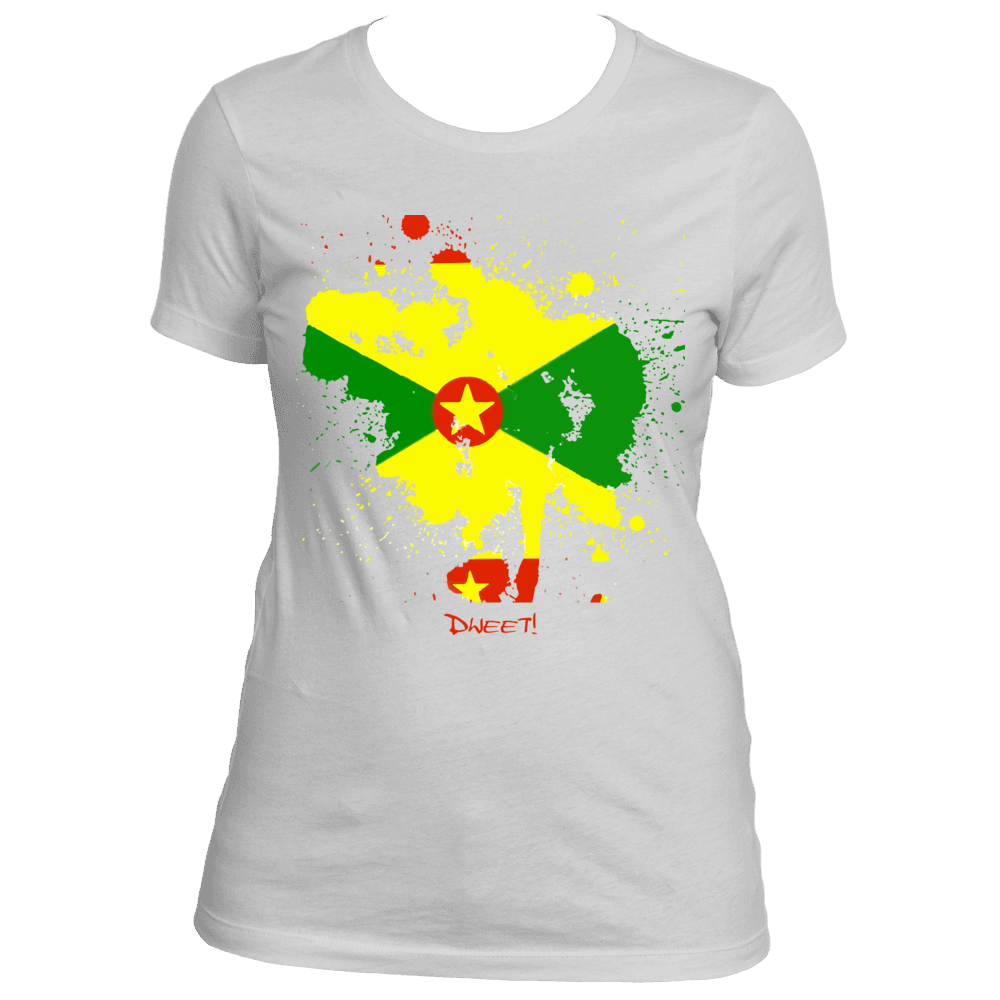 Ladies Grenada Rep Your Island Tee