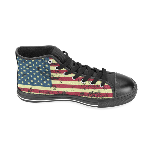 Distressed American Flag Sneakers