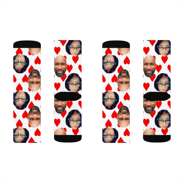 Personalized  Couples Photo Socks