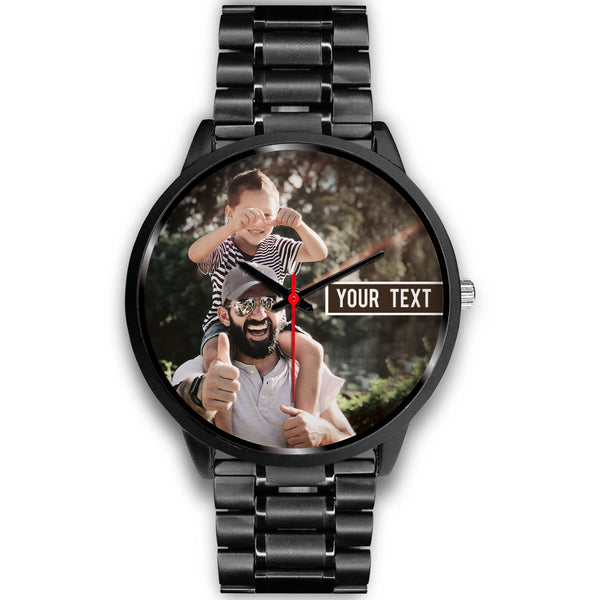 Personalized Black Custom Photo Watch