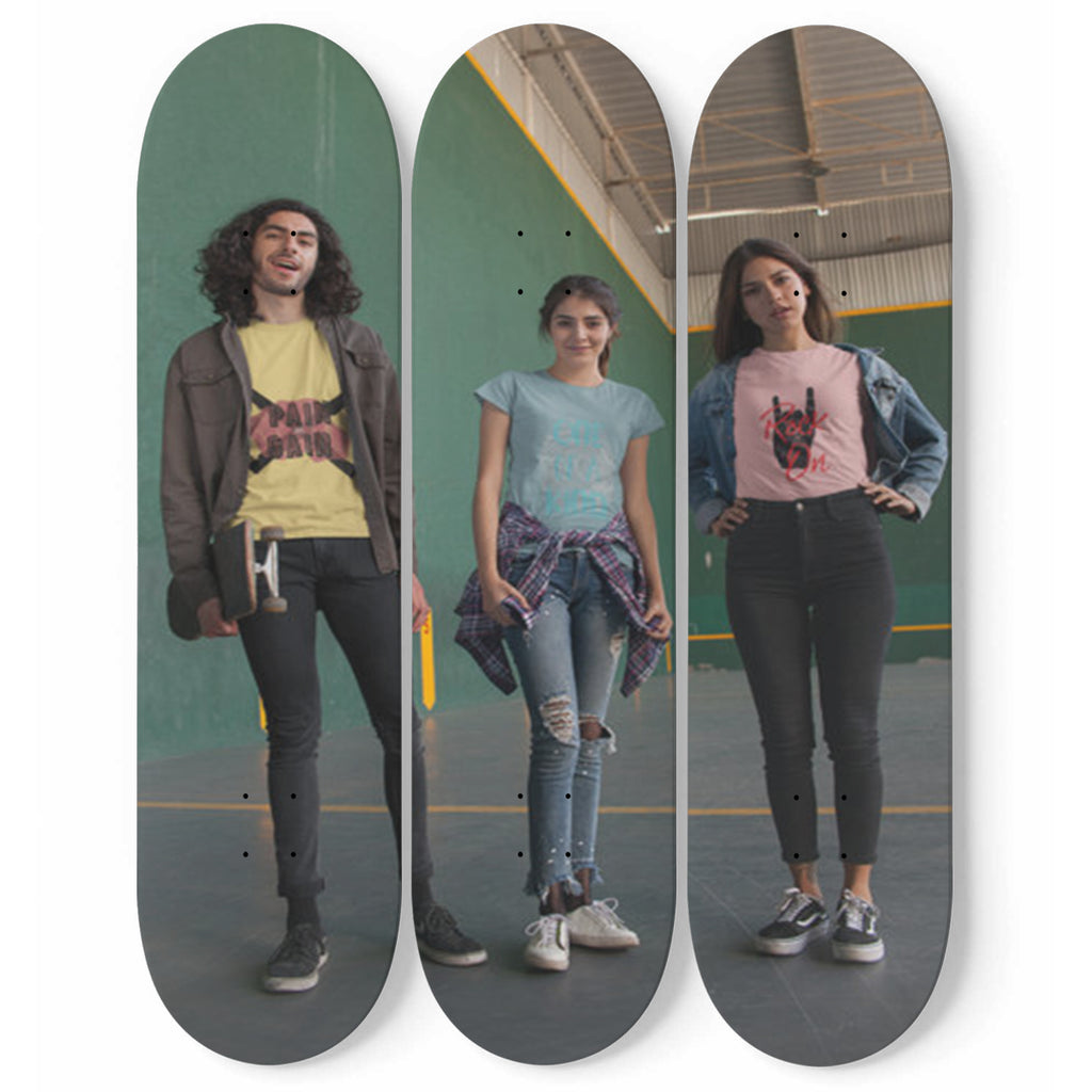 Personalized Custom Designed 3 Skateboard Wall Art