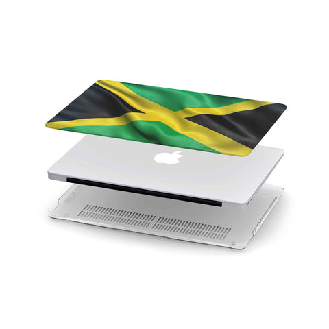 Custom Designed Jamaican Flag MackBook Case