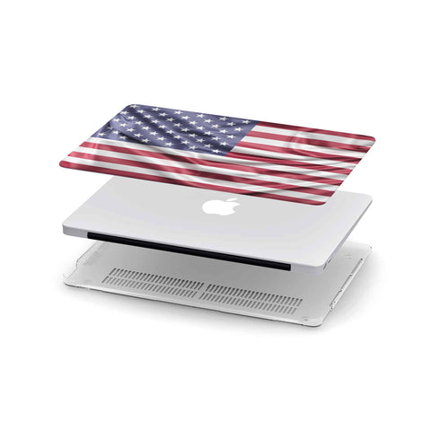Custom Designed U.S.A Flag MackBook Case