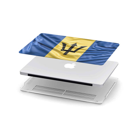 Custom Designed Barbados Flag MackBook Case