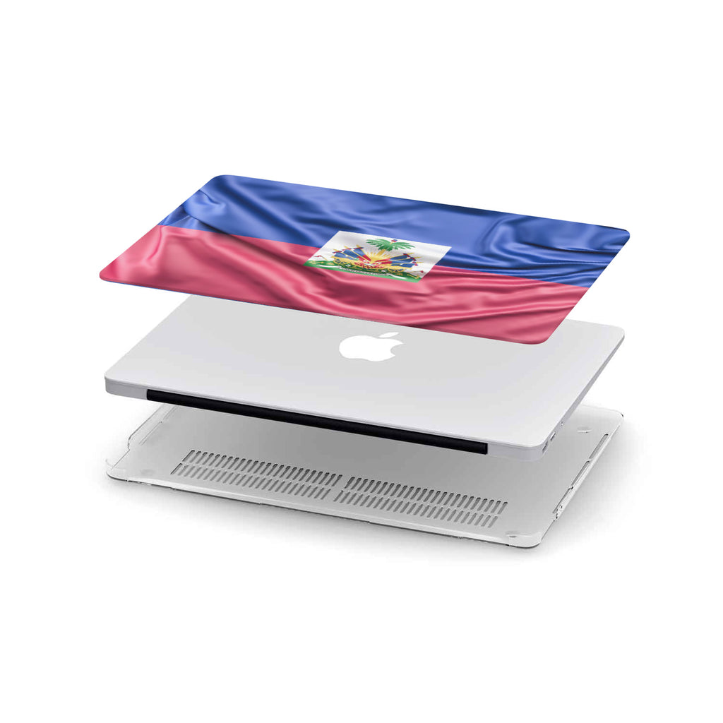 Custom Designed Haiti Flag MacBook Case
