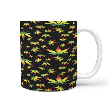 Custom Designed Rasta Weed Leaf Mug