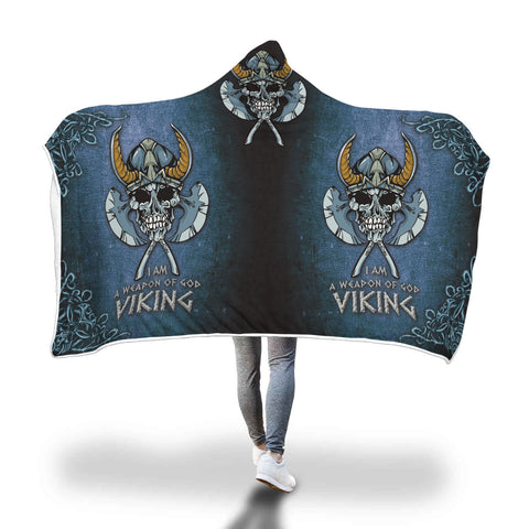 Vikings Skull Hooded Blanket