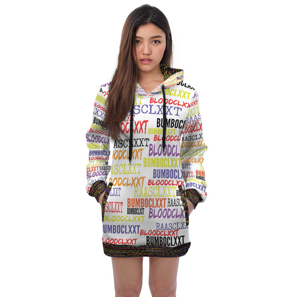 Custom Designed Jamaican Badword Hoodie Dress