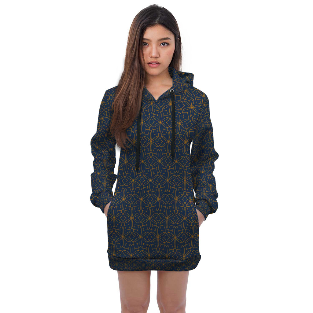 Royal Delight Hooded Dress