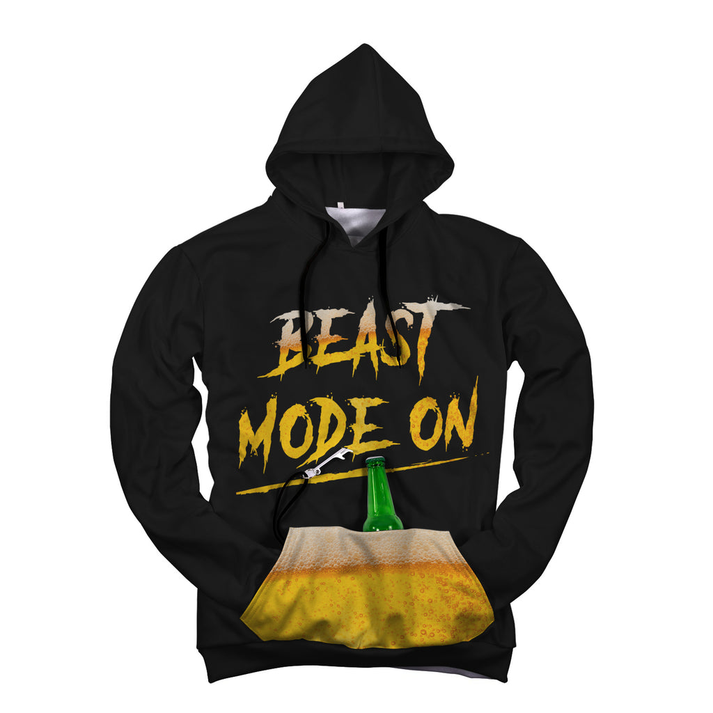 Custom Designed Beast Mode Pop Top Hoodie