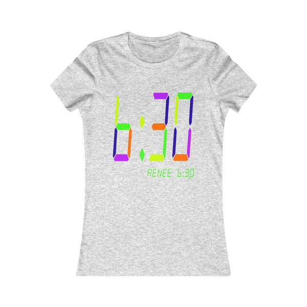 Multi Color Digital 6:30 Women's Tee
