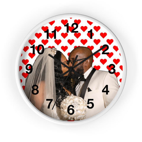 Personalized Valentines Wall clock