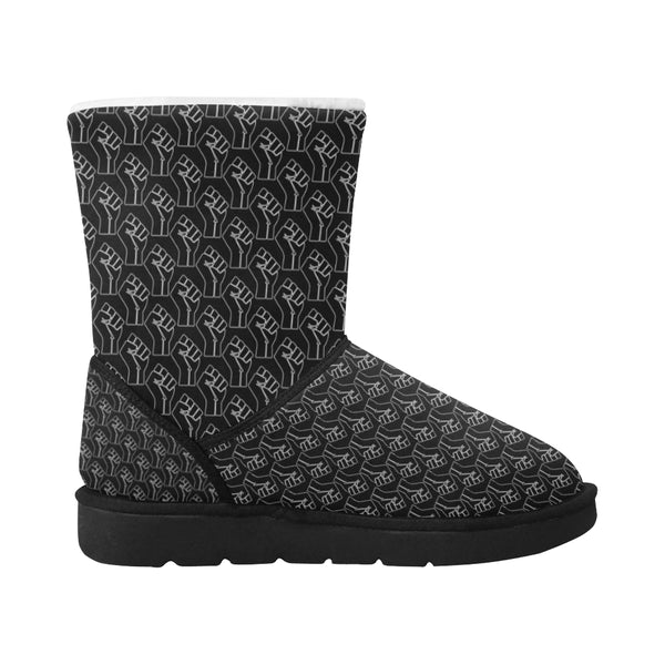 Black Lives Matter Raised Fist Women's Mid Calf Snow Boots