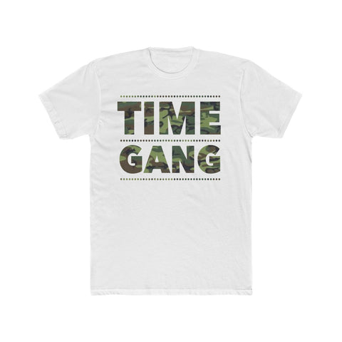 Time Gang Camo Men's Cotton Crew Tee