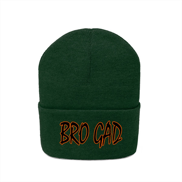 BRO GAD Embroidered Knit Beanie