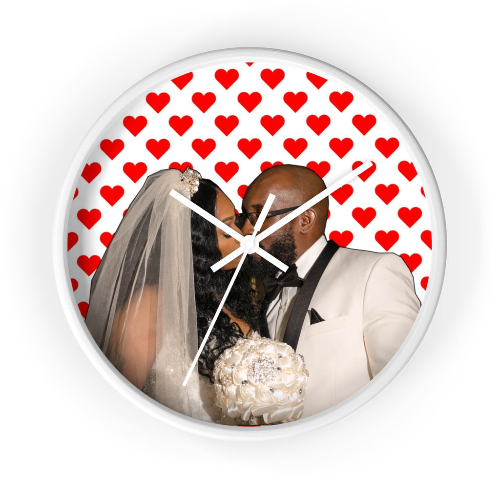 Personalized Valentines Wall clock-No Numbers