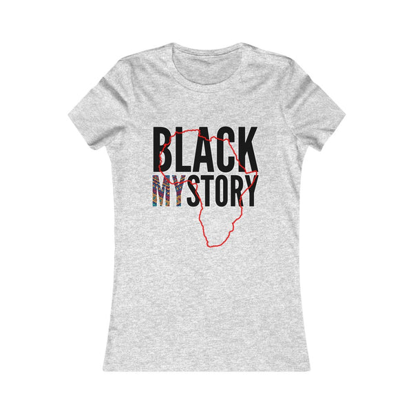 Women's Black My Story Black History Month Tee