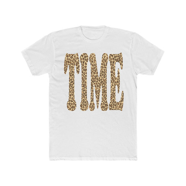 Leopard Print Time Cotton Crew Tee