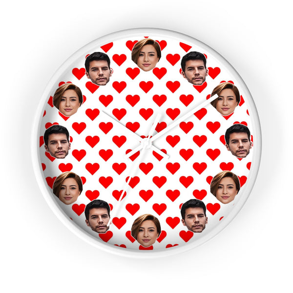 Personalized Valentines Photo Wall Clock