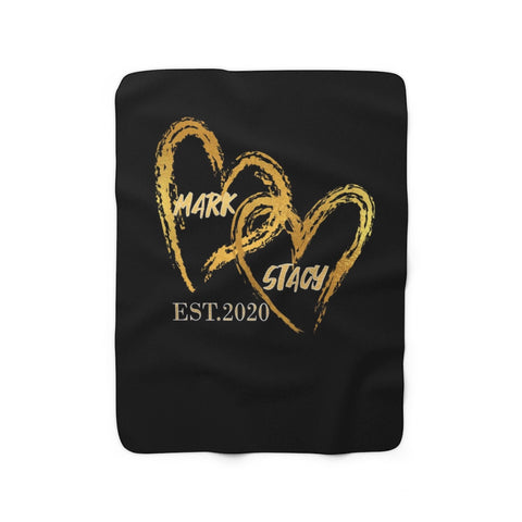Personalized Couples Sherpa Fleece Blanket
