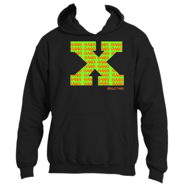X GANG NEON  HOODIE BY World Dawg