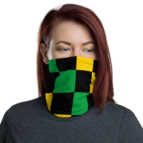 Jamaican Checker Neck Gaiter