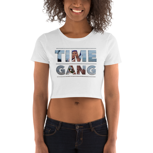 Photo Time Gang Women's Crop Tee By Renee 630