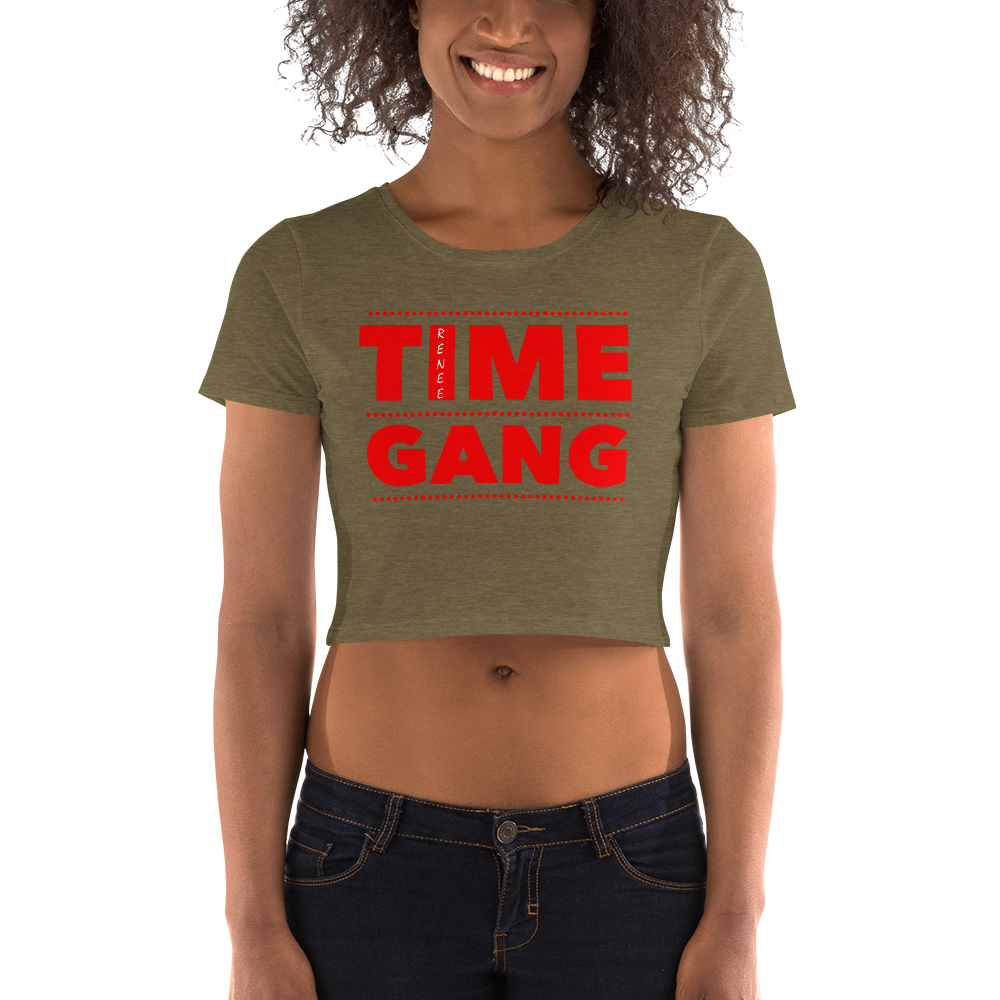 Classic Time Gang Women's Crop Tee By Renee 630