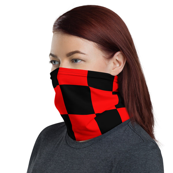 Red And Black Checker Neck Gaiter