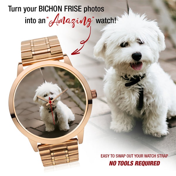 Personalized Rose Gold Custom Photo Watch