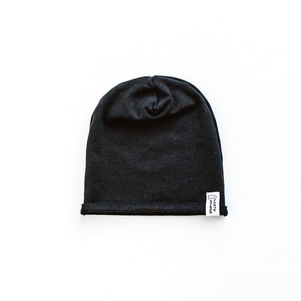 slouchy hat - black