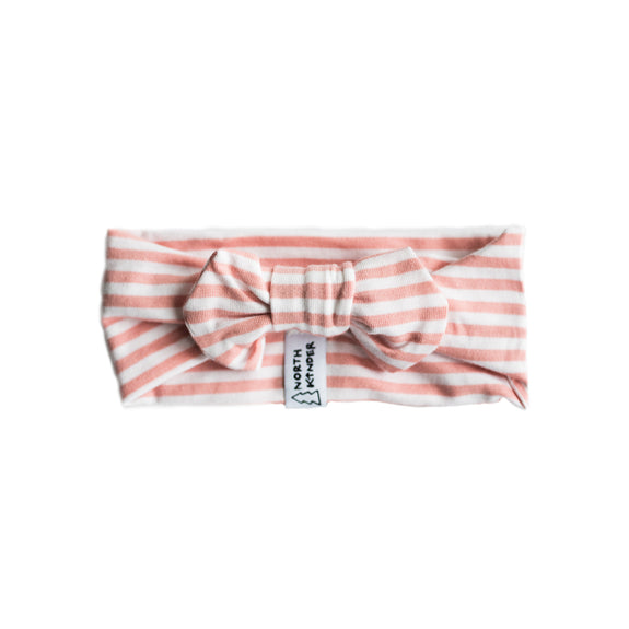 headband - striped blush