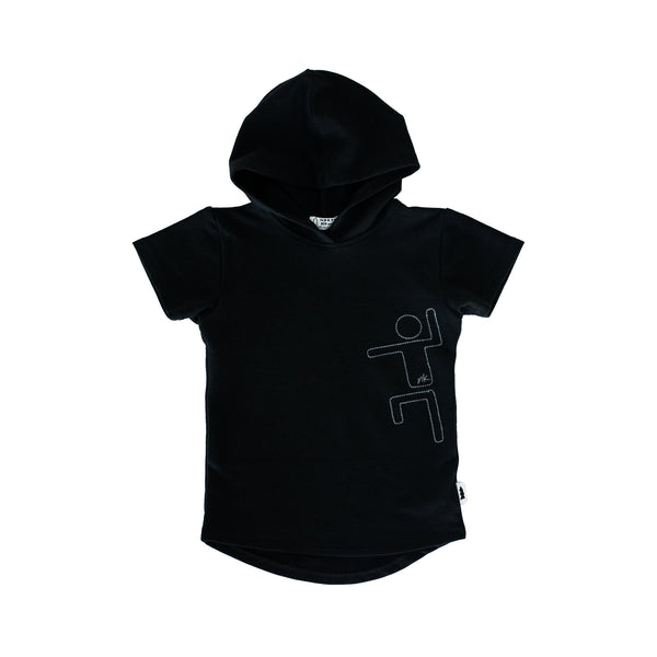 hooded tee - black nk kid