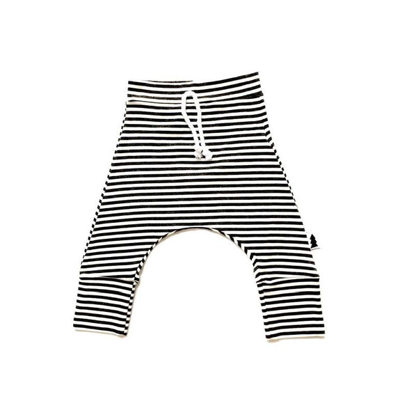 baby joggers - striped charcoal