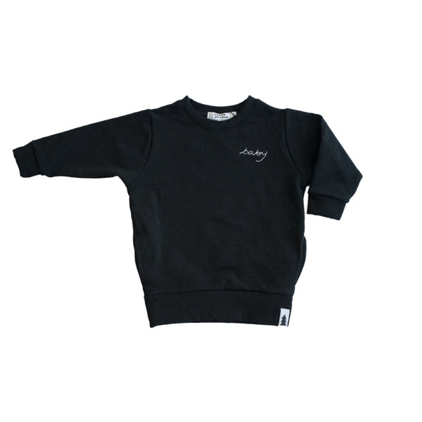 baby sweater - black