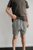 play shorts - striped charcoal
