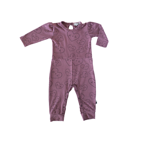 gathered long romper - mauve nk hearts #nklovespeople