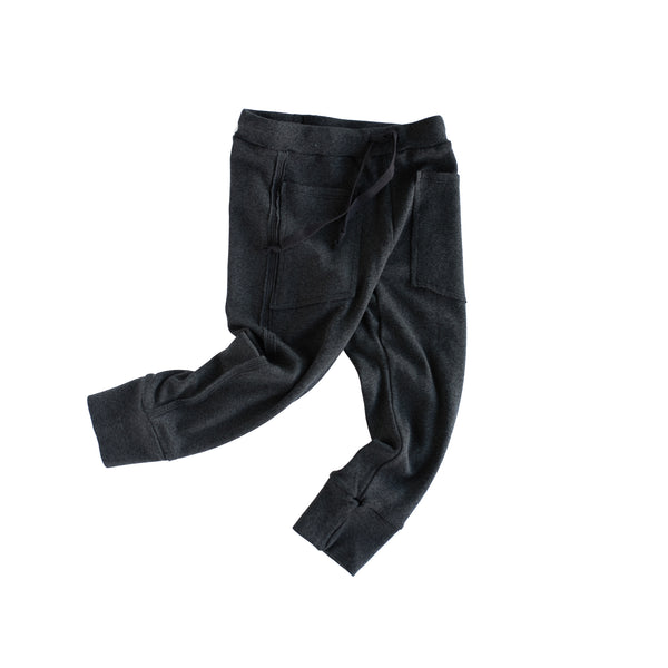 knit joggers - marled black