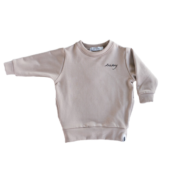 baby sweater - fawn