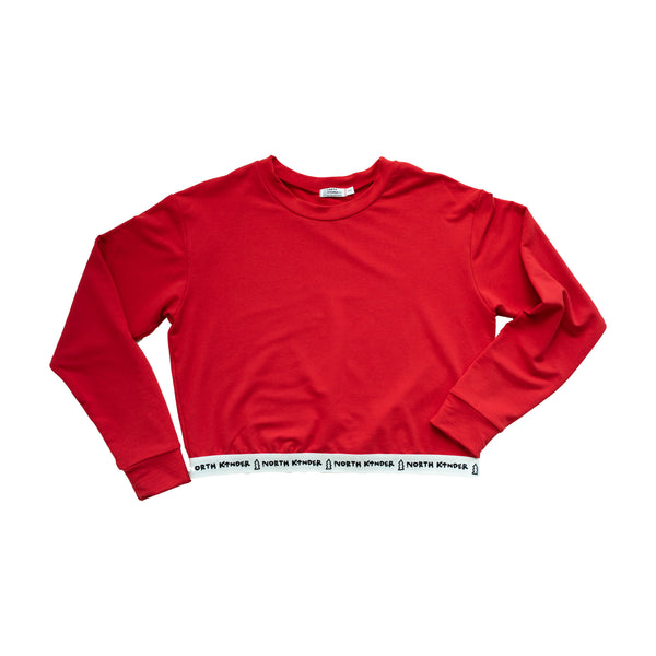 women's speed sweater - crayon red