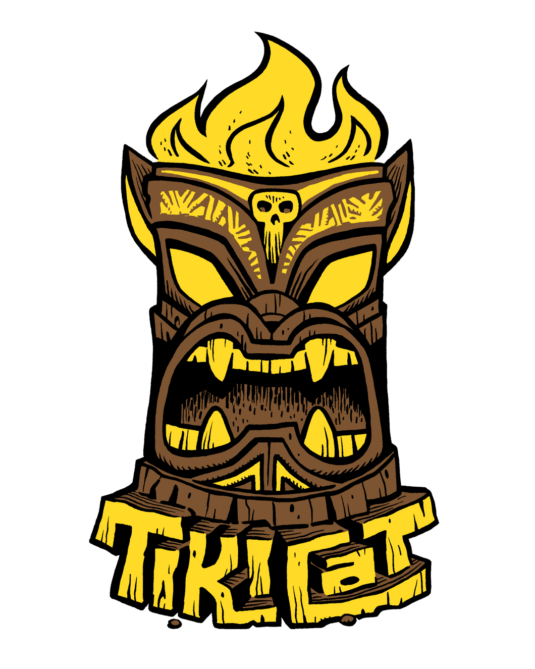 TikiCat Logo Sticker