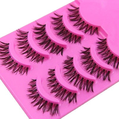 5 Pairs Cross False Eyelashes