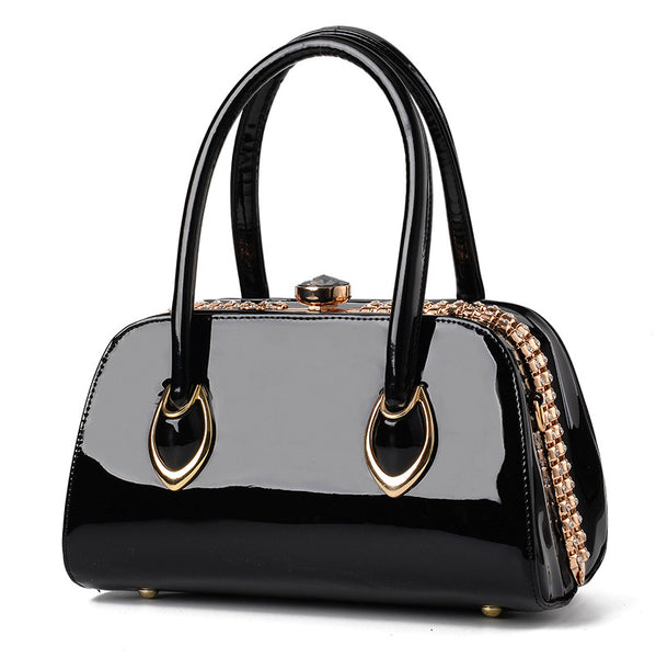 Patent Leather Designer Handbag