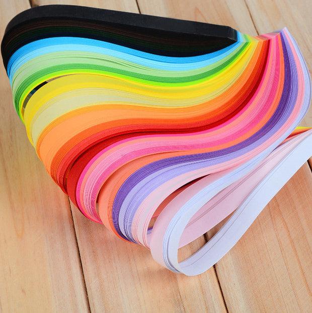Rainbow Color Quilling Paper Strips 10mm